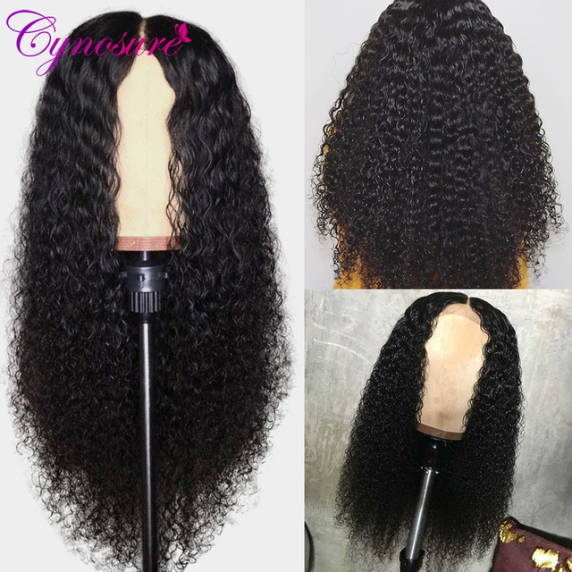 Cynosure 13×4 Lace Front Human Hair Wigs for Black Women Remy Brazilian Kinky Curly Lace Front Wig Pre Plucked With Baby Hair