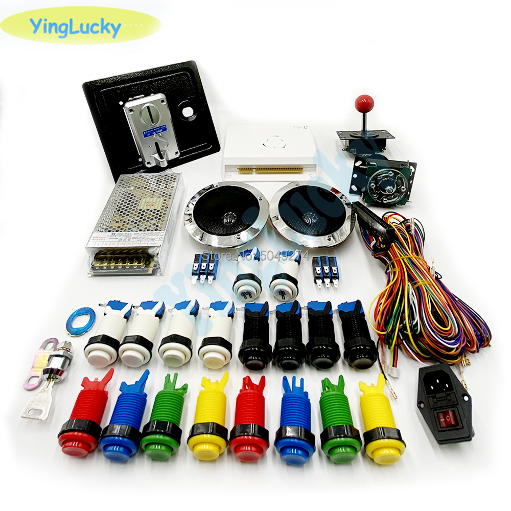 Arcade cabinet kit Pandora saga 3188 in 1 + 18 American buttons + American joystick + Power switch + jamma cable + coin machine