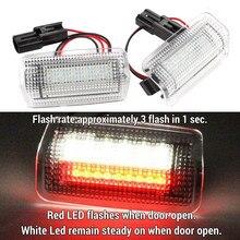 2 adet flaş LED nezaket kırmızı beyaz kapı ışığı ISF RCF RX350 LS460 GS350 GSF