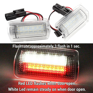 2Pcs Flash LED COURTESY Red White Door Light FOR ISF RCF RX350 LS460 GS350 GSF(China)