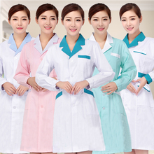 Long Sleeve Nurse Uniform Beautician Overalls Medical Clothing Beautician Dress Beauty Salon Lab Coat Hospital Doctor Uniforms