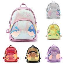 Cute Wing Sequins Mini Backpacks Girls Kids Casual Backpacks Travel School Shoulders Bag Snacks Backpacks #20 cheap HTNBO External Frame Soft Handle zipper Silt Pocket Arcuate Shoulder Strap 91223084 Polyester Solid Black Gold Sliver Purple Pink Red