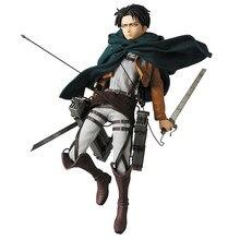 #213 Levi Ackerman Aanval Op Titan Anime Action Figure Heichov Model Beweegbare Speelgoed #207 Eren #203 Mikasa collection Beeldjes Speelgoed