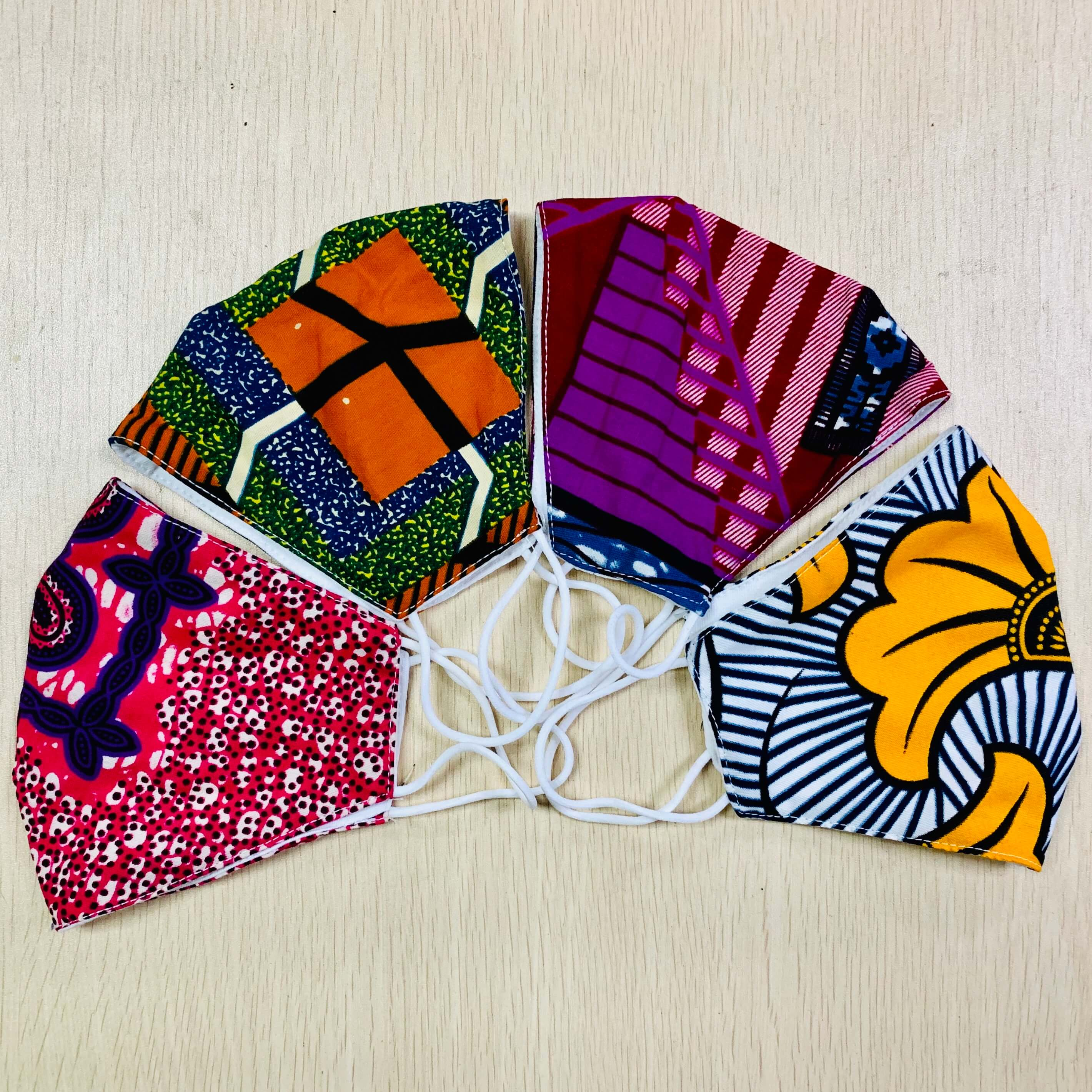 Cotton Dust Mask Ankara Print Masks Face Masks Anti-bacterial Dust Cotton Cubre Bocas Masks