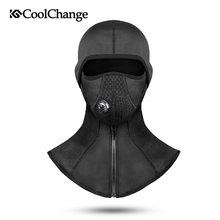 Купить с кэшбэком Coolchange Winter Cycling Face Mask Cap Ski Bike Mask Face Thermal Fleece Snowboard Shield Hat Cold Headwear Bicycle Face Mask
