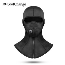 CoolChange Winter Cycling Face Mask Fleece Thermal Windproof Bike Cap Balaclava Ski Fishing Skating Hat Snowboard Training Mask(China)