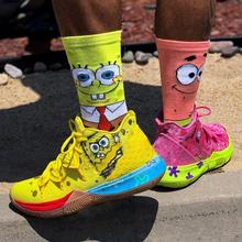 Новинка года; сезон весна-лето; мужские носки из чесаного хлопка с дезодорантом; парные забавные носки с героями мультфильмов; Тапочки