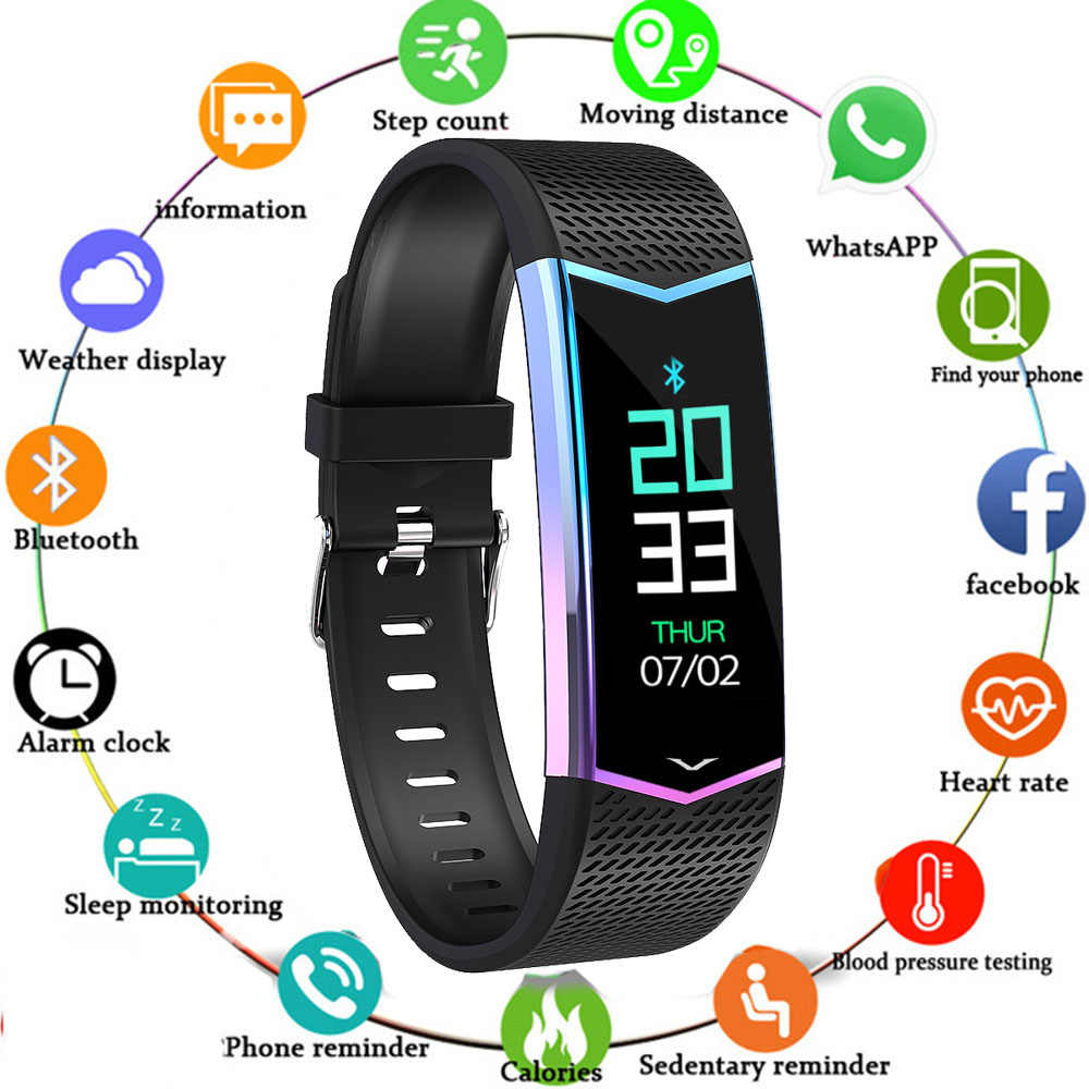 LV08 Screen Fitness Tracker USB Charging Heart Rate Monitor Spo2 Blood Pressure Call Message Reminder Smart Bracelet