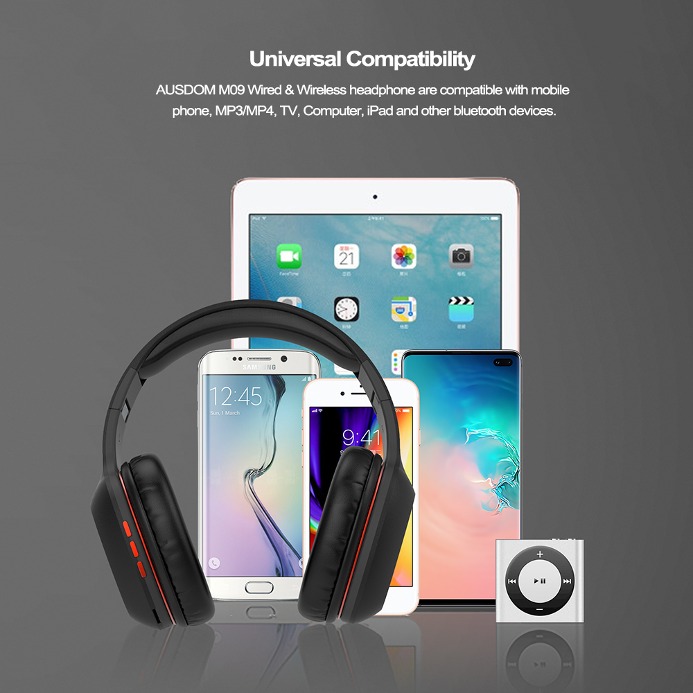 Ausdom M09 Bluetooth Headphone 3