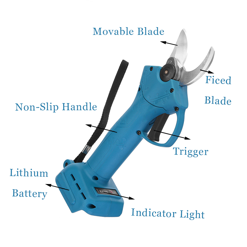 Tools : 18V Cordless Electric Pruner Pruning Shear Efficient Fruit Tree Bonsai Pruning Branches Cutter Landscap For Makita 18V Battery