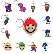 Porte clés de Super héros 100 pièces en dessin animé, en PVC, jouet pour enfants, pendentif, porte clés Hulk, cadeau de noël