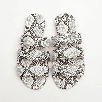 Sandals Snake Non-slip Outdoor Slippers 2020 Women Fashion Wild Wild Beach Shoes Sandals Flat Bottom Ladies Slippers 5