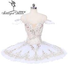 sleeping beauty variation professional ballet tutus cream white and gold classical costume women Raymonda tutudressBT9237