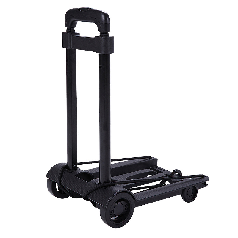 Folding Luggage Cart Household Portable Travel Trailer Aluminum Alloy Car And Car Luggage Cart Shopping Trolley Trunk Trailer