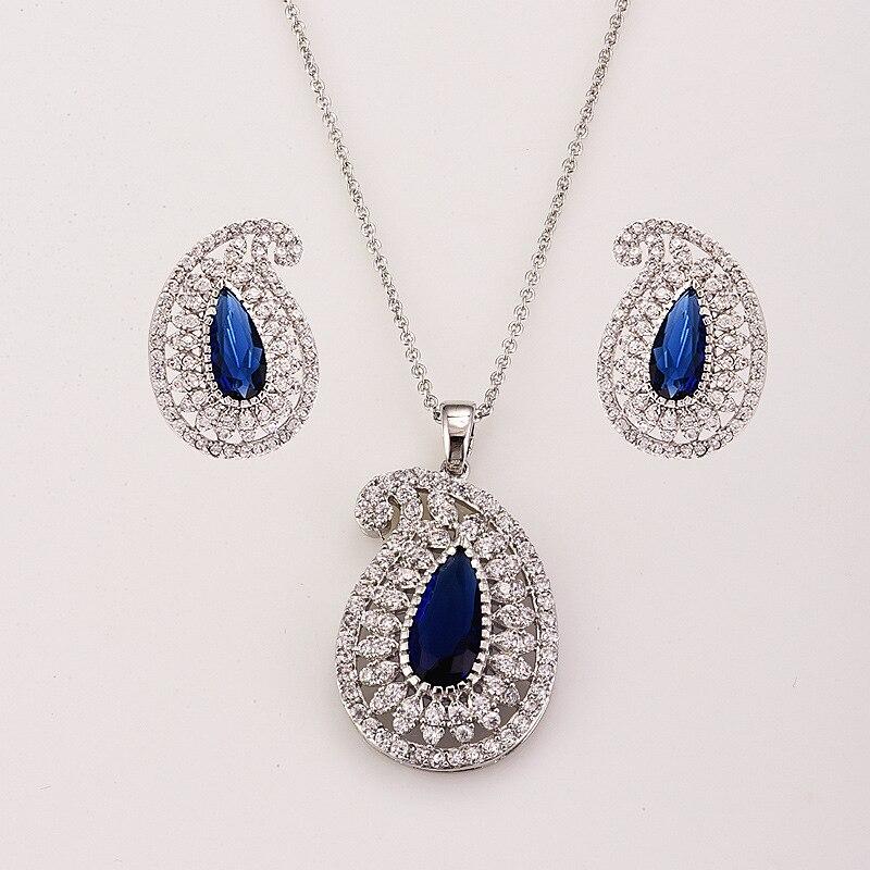 Mode animale mariage dames ensembles de bijoux pour les femmes de luxe cristal Zircon boucles d'oreilles colliers ensemble bijoux - 4