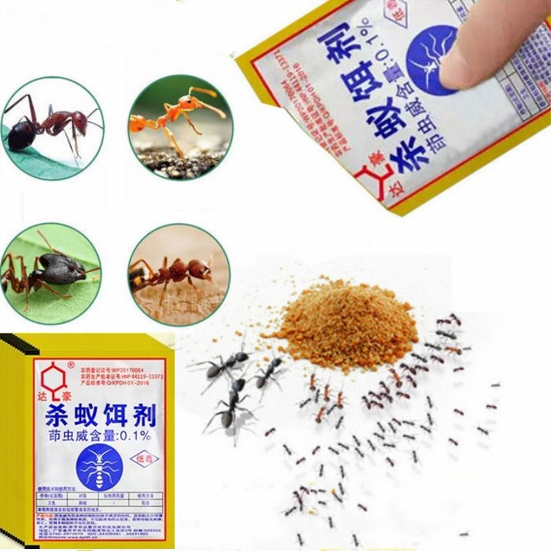 1 Pieces Strong Clear Ant Bait Powder Yellow Black White Termites Ants Drug Medicine Effects Destroy Kill Nest Ant Bait