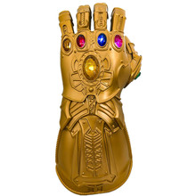 Yacn Infinity Gauntlet Glove with LED Light  Costume Avengers 4 Prop Toy for Men Kids Cosplay yacn infinity gauntlet glove avengers infinity war cosplay for kids glove infinity led light send keychain
