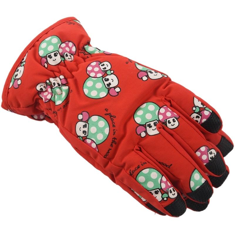 Non-slip, For 2-4 Year Old Children, Ski Skate Gloves (red)