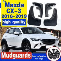 For Mazda CX-3 CX3 2016 2017-2019 fender flares mud flaps Mudguards Exterior Parts products cover Accessories 4pcs rubber