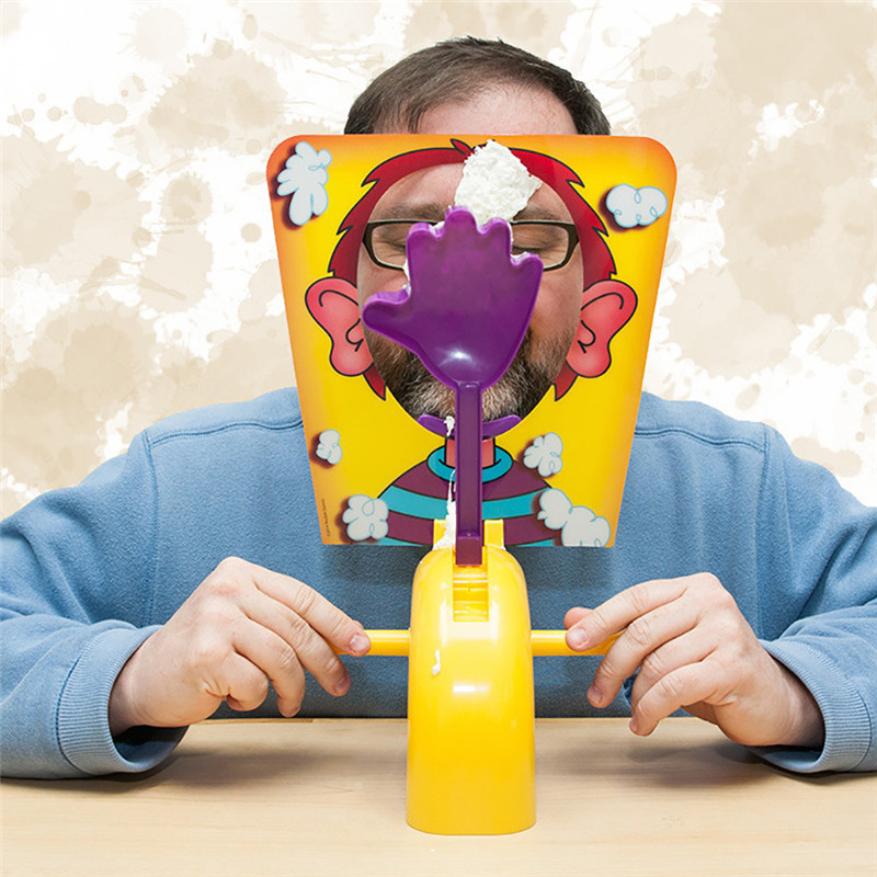Desktop Game Cream Hit Face Machine Funny Party Toys Pie Cake To Face Novelty Family Birthday Party Toy Joke For Kids Christmas