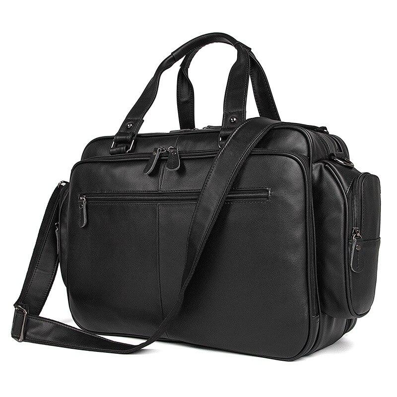 Luufan High Quality Business Bag Handbag Men Genuine Leather Black Briefcase Classic Luxury Designer Tote Bag For Layer Doctor