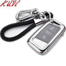 цена на Keyless Car Stylins Key Cover Case Auto Remote Key Cover Shell For Volkswagen VW 2016/17 Passat B8 Skoda Superb Car Accessories