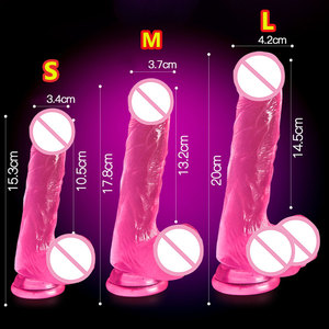 GaGu Crystal Jelly Dildo Realistic Huge Big Penis Suction Cup Transparent Dildo Lesbian Woman Stimulate Gay Sex Toys