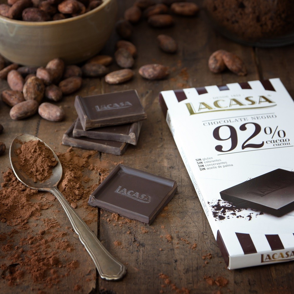 Chocolate tablet 92% cocoa · 100g.