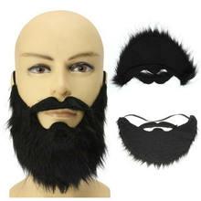 Faroot falso barba de cavanhaque bigode preto fantasia vestido vara no cabelo facial barba falsa