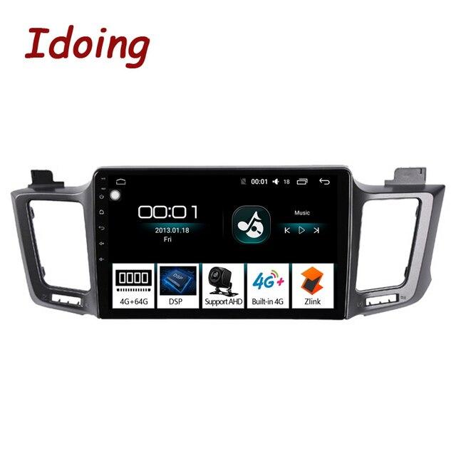 """Idoing 10.2 """"4G + 64G 8 Core Autoradio Android Multimedia Speler Voor Toyota RAV4 4 XA40 5 XA50 2012 2018 Gps Navigatie Geen 2din"""