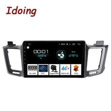 Idoing Radio Multimedia con GPS para coche, Radio con reproductor, Android, 10,2 pulgadas, 4 GB + 64 GB, 8 núcleos, para Toyota RAV4, XA40, 5, XA50, 2007 2012, no 2din