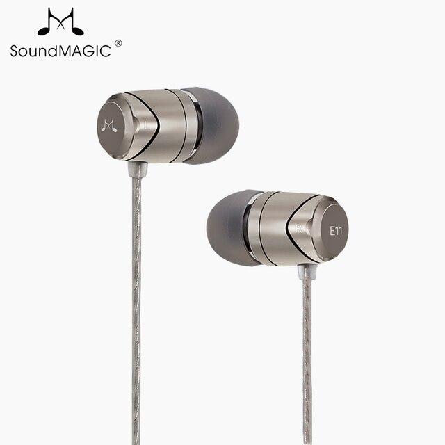 חדש SoundMAGIC E11 באוזן אוזניות ללא מיקרופון כבד בס HIFI מוסיקה אוזניות עבור ipod mp3 נגן