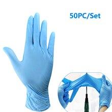 50 Stk/set Wegwerp Latex Handschoenen Wearable Dikke Witte Pvc Rubber Nitril Handschoenen Beschermende Handschoenen Antibacteriële Dropship