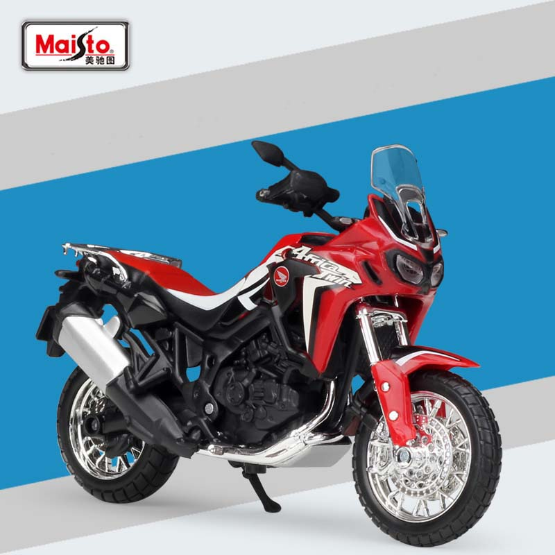 1:18 Scale Maisto Honda CRF1000L Africa Twin DCT 2016 Sport Diecast Off-Road Motorcycle Toy Model Kids Gifts