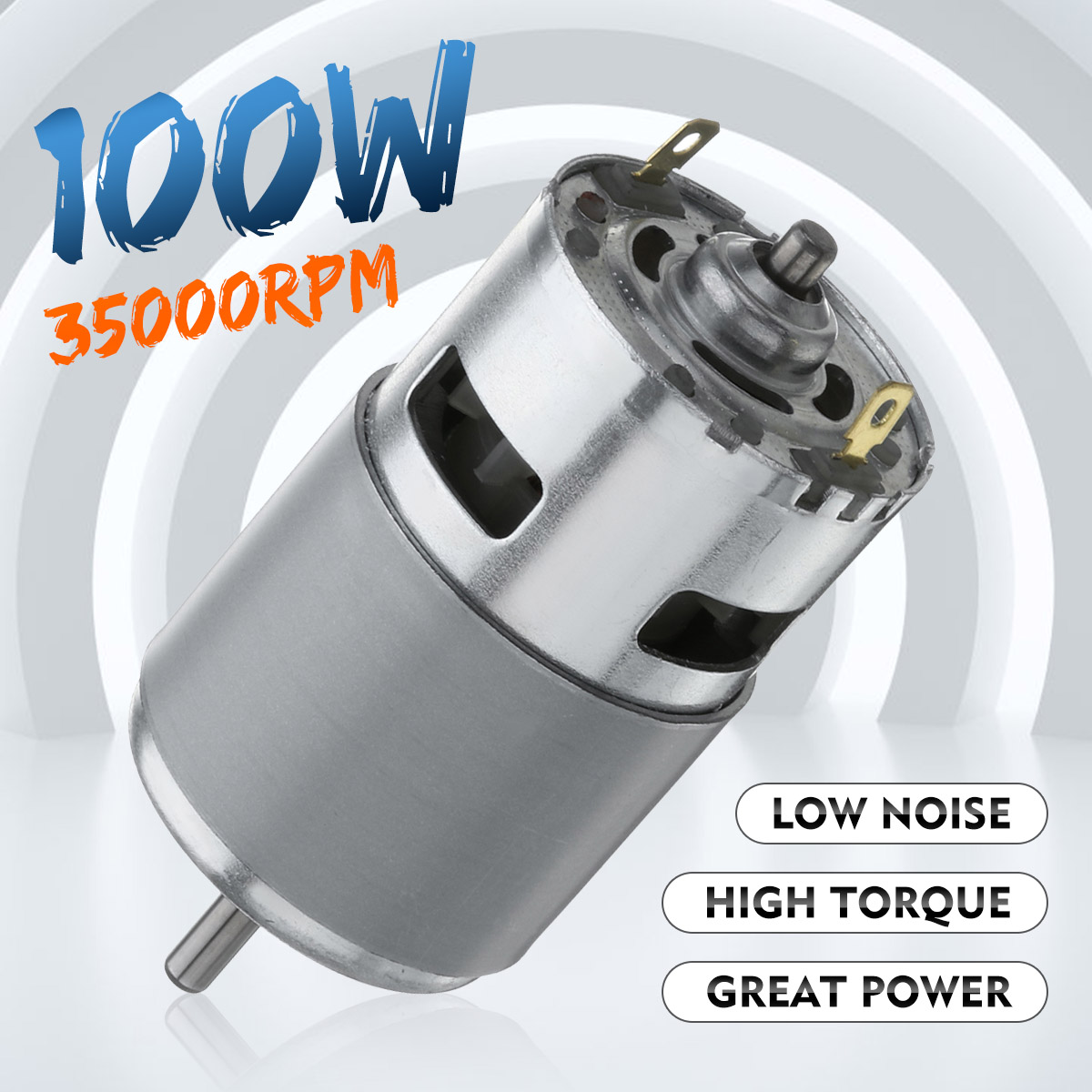 Max 35000 RPM 775 DC Motor DC 12V-24V Ball Bearing Large Torque High Power Low Noise Gears Motor Electronic Component Motor