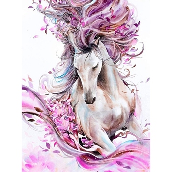 5D Diamond Painting Horse Full Diy Cross Stitch Rhinestone Embroidery Dotz Kits Art Craft For Adults Home Wall Decor 12X - discount item  27% OFF Home Decor