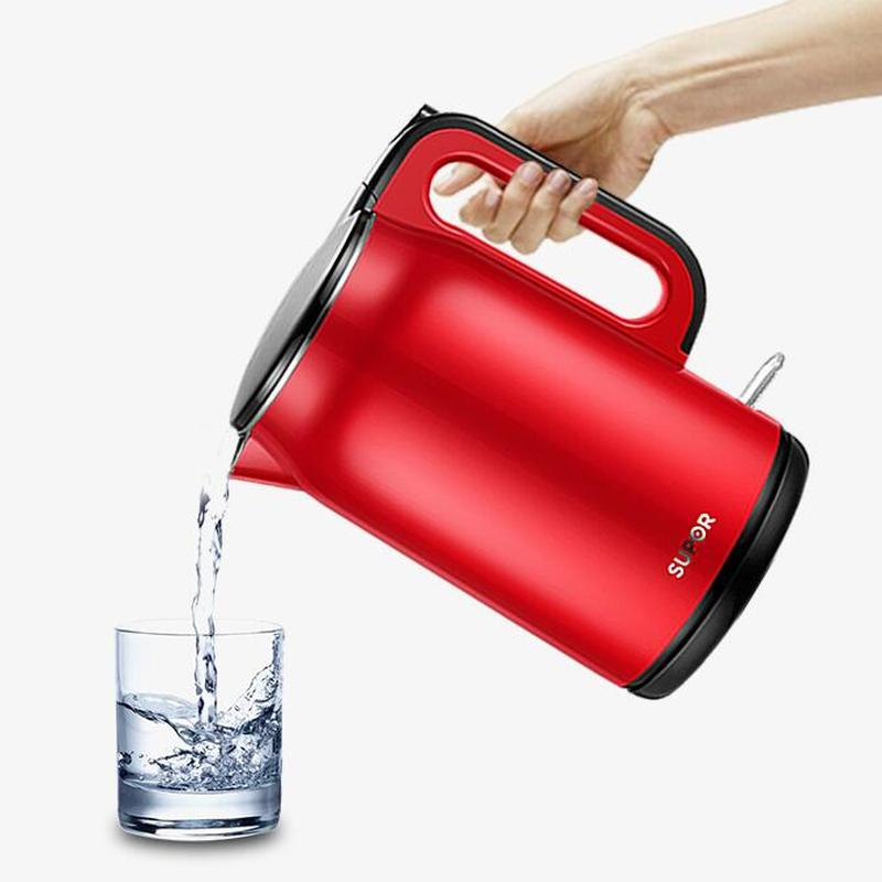 1.7L Electric Kettle Household Open Portable Kettle Stainless Steel Insulation Large Capacity Tea Making Automatic Power Off 6