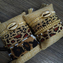 Go2boho MIYUKI Beads Bracelet Leopard Women Pulseras Mujer 2019 Gold Jewelry Men Armband Chic Shell Tassel Tiger Pattern