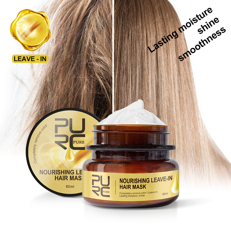 PURC Nourishing Leave-In Hair Mask Completely Remove Odor Lasting Moisture Shine Hair Treatment Repairs Frizzy Hair care