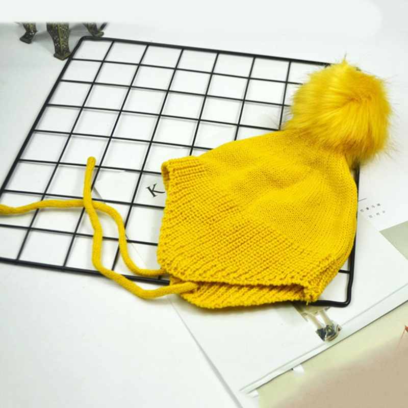 Winter Hat Beanie-Cap Pom-Pom Warm Girls Fashion Children Cute New for Boys Multi-Color
