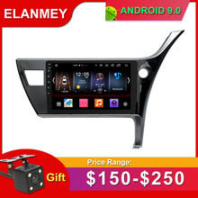 Gift Camera Car Radio for TOYOTA Corolla RHD 2017 Android 9.0 GPS Navigation Bluetooth Touch screen Car Audio Stere Multimedia(China)