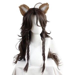 Парик для косплея, витая Wonderland Leona Kingscholar с коричневой тесьмой, термостойкие синтетические волосы для косплея
