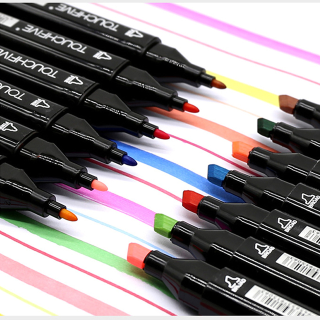 TouchFIVE Markers Hand Painted Manga Drawing Markers Pen Alcohol Based Sketch Oily Twin Brush Pen Bookmark Art Supplies 2