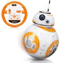 BB-8 Balle Star Wars RC Figurine BB 8 Droïde Robot 2.4G Télécommande Robot Intelligent BB-8 Modèle Enfant Jouet Cadeau FSWB