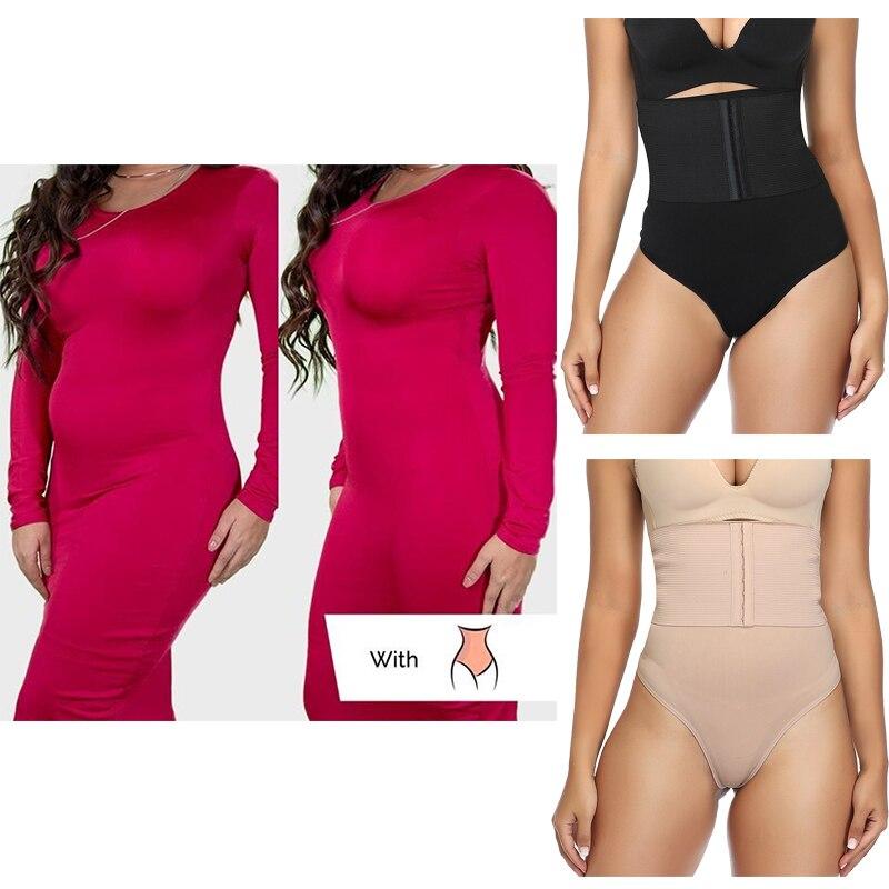 Women Waist Trainer Body Shaper Shorts High Waist Shaping Panties Tummy Control Underwear Seamless Shaperwear