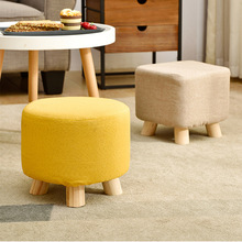 Sofa Dining-Chair Children Stools Solid-Wood Tea-Table Round Adults Household