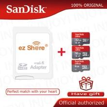 Ezshare 무선 와이파이 어댑터 + sandisk 울트라 8 기가 바이트 16 기가 바이트 32 기가 바이트 class10 microsd 와이파이 무선 tf 카드 마이크로 sd 카드 메모리 카드