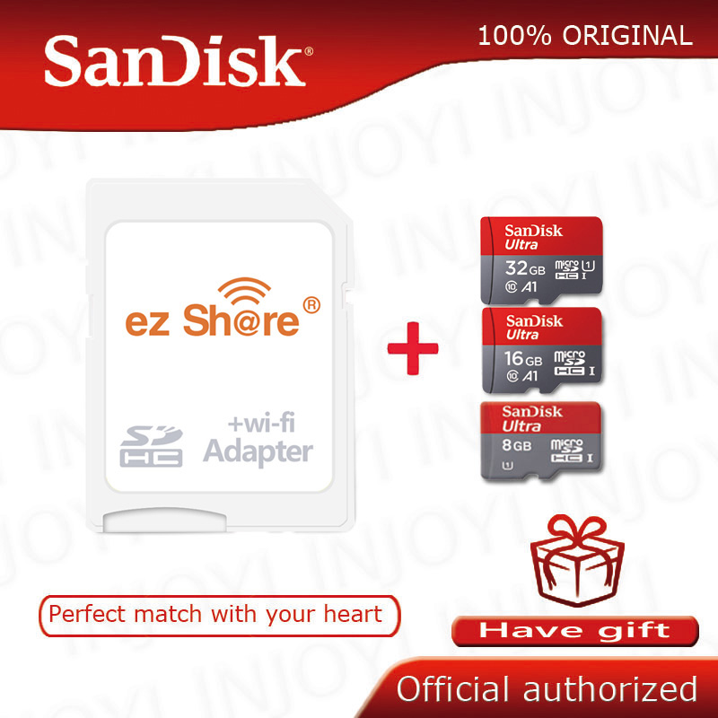 ezshare Wireless wifi adapter Sandisk Ultra 8GB 16gb 32gb class10   microsd wifi wireless TF Card Micro SD Card Memory Cardmemory  cardmicro sd cardtf card