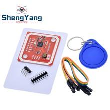 ShengYang PN532 NFC RFID kablosuz modülü V3 kullanıcı kitleri okuyucu yazar modu IC S50 kart PCB I2C IIC SPI HSU Arduino için