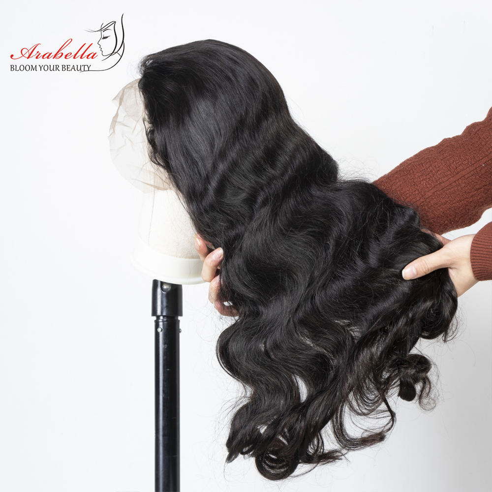 360 Lace Frontal Wig 100%  Wigs Body Wave Wig Pre Plucked  180% Density Arabella  Lace Front Wig 1